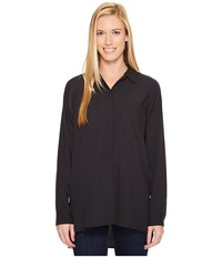 Exofficio Museo Tunic Black Women's Long Sleeve Button Up