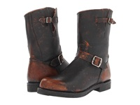 Frye Arkansas Engineer R Whiskey Painted Stonewash Men's Pull On Boots Black