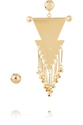 Paula Mendoza Musketeers Gold Plated Earrings Metallic