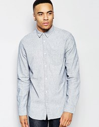 New Look Linen Shirt In Pale Blue In Regular Fit Pale Blue
