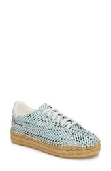 Marc Fisher 'S Ltd Mandi Espadrille Sneaker Blue Multi Fabric