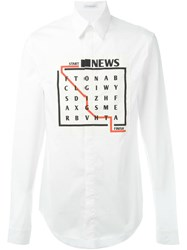 J.W.Anderson J.W. Anderson Wordsearch Patch Shirt White