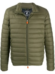 Save The Duck Padded Zip Front Jacket Green