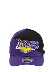 New Era Nba Team Split Stretch Snap Baseball Hat Black