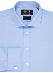 Austin Reed Slim Fit Two Fold Oxford Shirt Navy