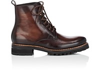 Harris Lug Sole Burnished Leather Boots Dk.Brown