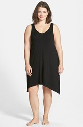 Plus Size Women's Dkny 'Urban Essentials' Jersey Chemise Black