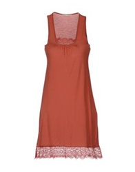 Nioi Short Dresses Rust