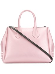 Gum Stud Detailed Tote Bag Pink And Purple