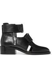 3.1 Phillip Lim Addis Buckled Leather Ankle Boots Black