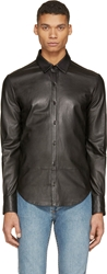 Blk Dnm Black Leather Shirt