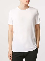 Topman White Drapey Slim Fit T Shirt