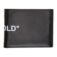 Off White Black Quote Bifold Wallet