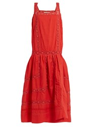 Queene And Belle Aimee Square Neck Embroidered Cotton Voile Dress