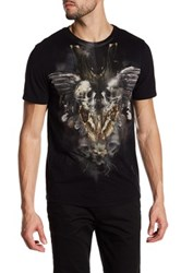 Religion Gemini Front Graphic Print Tee Black