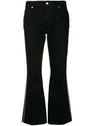 Alexander Mcqueen Cropped Flared Jeans Black