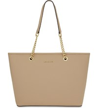 Michael Michael Kors Jet Set Travel Saffiano Leather Tote Oyster
