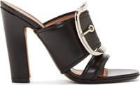 Givenchy Black Oversized Pin Buckle Odia Mules