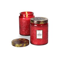 Voluspa Japonica Limited Edition Glass Candle Goji And Tarrocco Orange Large