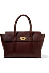 Mulberry The Bayswater Textured Leather Tote Burgundy