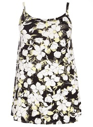 Evans Plus Size Black And Yellow Floral Cami
