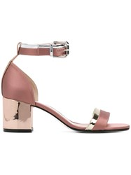 08a7c08ae0c Pollini Slingback Buckle Sandals Pink And Purple