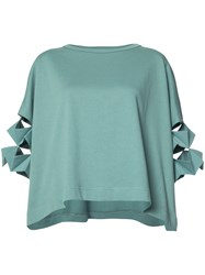 Y 3 Sleeve Detail Jersey Top Green