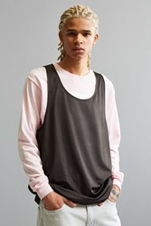 Urban Outfitters Uo Mesh Tank Top Black And White