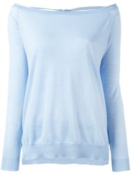 P.A.R.O.S.H. Open Back Sweater Blue
