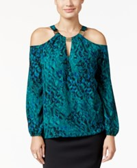 Thalia Sodi Cold Shoulder Hardware Top Only At Macy's Dark Forest Combo
