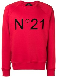 N 21 No21 Printed Logo Sweatshirt Red
