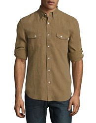 Timberland Linen Roll Tab Sportshirt Capers