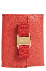 Salvatore Ferragamo Women's Vara Bow Calfskin Leather French Wallet