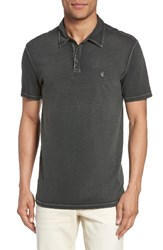 John Varvatos Men's Star Usa Short Sleeve Polo Seaweed