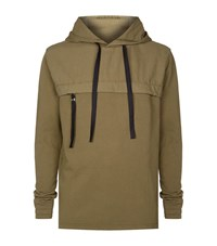 Blood Brother Utility Front Zip Hoodie Male Olive
