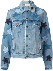 Faith Connexion Star Patches Denim Jacket Blue