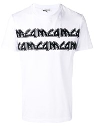 Mcq By Alexander Mcqueen Embroidered Logo T Shirt White