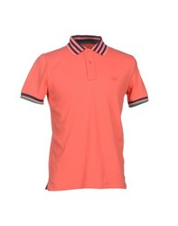 Henry Cotton's Topwear Polo Shirts Men Coral