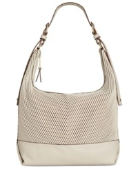 French Connection Dallas Woven Hobo Stone