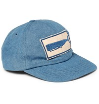 Mollusk Appliqued Denim Baseball Cap Blue