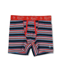 Original Penguin Fashion Boxer Brief Coral Stripe Men's Underwear Pink
