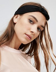 Asos Jersey Plait Turban Headband Black