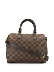 Louis Vuitton 2016 Pre Owned Speedy Bandouliere 25 Two Way Bag Brown