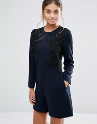Ted Baker Aysa Embroidered Playsuit Navy