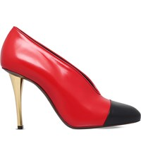 Lanvin Captoe Leather Courts Red