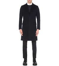 Tiger Of Sweden Brysk Slim Fit Wool Coat Navy