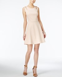 Bar Iii Cutout Fit And Flare Dress Only At Macy's Ballet Pink