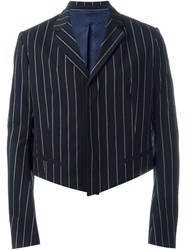 Haider Ackermann Cropped Striped Blazer Multicolour