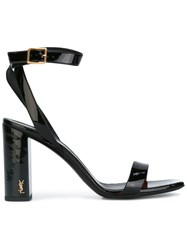 Saint Laurent Loulou 95 Ankle Strap Sandals Black