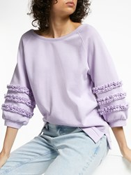 And Or Lana Frill Sweat Top Soft Lilac